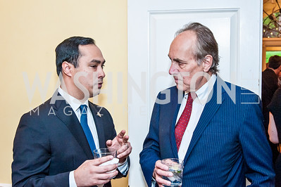 Sec. Joaquin Castro, Christoper Isham. Photo by Tony Powell. 2016 WHCD Bradley Welcome. April 29, 2016
