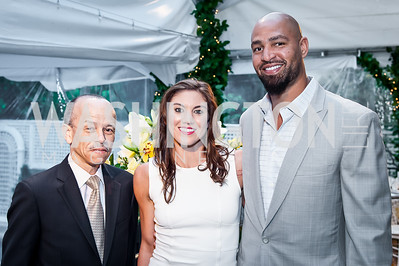 Rich Nichols, Hope Solo, Jerramy Stevens. Photo by Tony Powell. 2016 WHCD Bradley Welcome. April 29, 2016