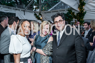 Tekedra Mawakana, Melody Thomas, Alan Fleischmann. Photo by Tony Powell. 2016 WHCD Bradley Welcome. April 29, 2016