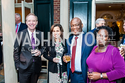 Brad and Kathy Smith, George Atuobi, Joyce Rogers. Photo by Tony Powell. 2016 WHCD Bradley Welcome. April 29, 2016