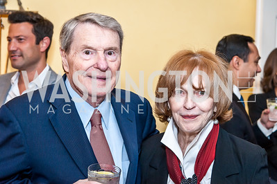 Jim and Kate Lehrer. Photo by Tony Powell. 2016 WHCD Bradley Welcome. April 29, 2016