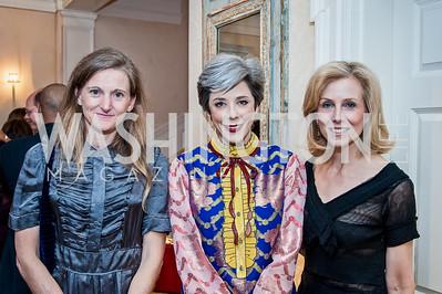 Rachel Whetstone, Heather Podesta, Katherine Bradley. Photo by Tony Powell. 2016 WHCD Bradley Welcome. April 29, 2016