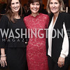Betsy Fischer, Capricia Marshall, Elizabeth Thorpe. Photo by Tony Powell. Bytes & Bylines. Residence of Spain. April 28, 2016