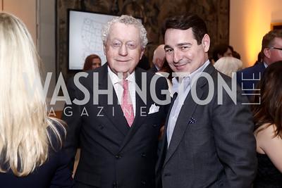 Tom Quinn, John Mason. Photo by Tony Powell. Bytes & Bylines. Residence of Spain. April 28, 2016