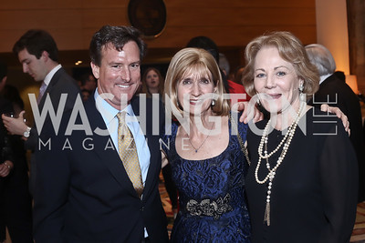 Bruce Friedman, Paula Dobriansky, Diane Flamini. Photo by Tony Powell. Bytes & Bylines. Residence of Spain. April 28, 2016