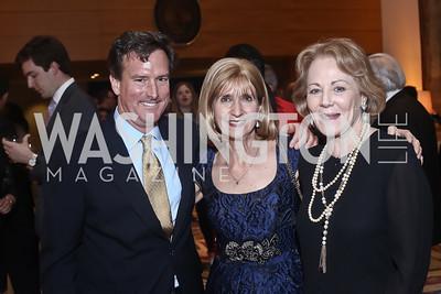 Bruce Friedman, Paula Dobriansky, Diane Flamini. Photo by Tony Powell. Bytes & Bylines. Residence of Spain. April 28, 2016