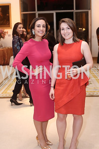 Sarah Zlotnick, Caroline Cunningham. Photo by Tony Powell. Bytes & Bylines. Residence of Spain. April 28, 2016