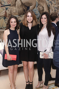Meredith Belenske, Clementine Aymard, Jocelyn Quinn. Photo by Tony Powell. Bytes & Bylines. Residence of Spain. April 28, 2016