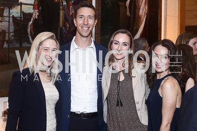 Anna Mason, Sean and Kellee Glass, Meredith Balenske. Photo by Tony Powell. Bytes & Bylines. Residence of Spain. April 28, 2016