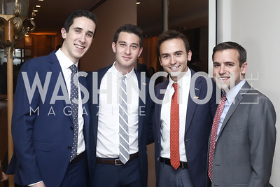 Allen Gannett and Trever Faden, Tommy McFly and Chrys Kefalas. Photo by Tony Powell. Bytes & Bylines. Residence of Spain. April 28, 2016