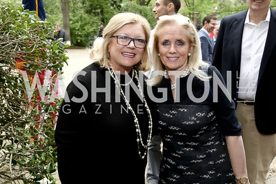 Gloria Dittus, Rep. Debbie Dingell. Photo by Tony Powell. 2016 WHCD Garden Brunch. April 30, 2016