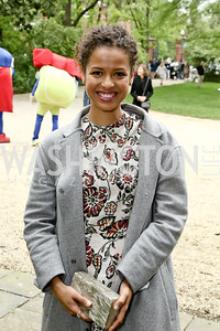 Actress Gugu Mbatha-Raw. Photo by Tony Powell. 2016 WHCD Garden Brunch. April 30, 2016