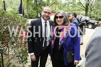 HRC President Chad Griffin, Mandy Grunwald. Photo by Tony Powell. 2016 WHCD Garden Brunch. April 30, 2016
