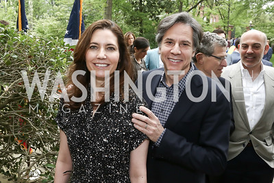 Evan Ryan and Tony Blinken. Photo by Tony Powell. 2016 WHCD Garden Brunch. April 30, 2016