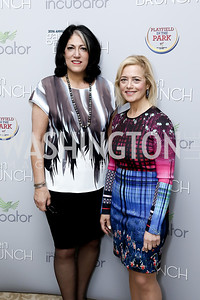 Tammy Haddad, Hilary Rosen. Photo by Tony Powell. 2016 WHCD Garden Brunch. April 30, 2016