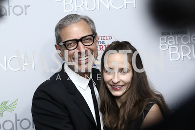 Jeff Goldblum and Emilie Livingston. Photo by Tony Powell. 2016 WHCD Garden Brunch. April 30, 2016