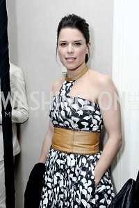 Actress Neve Campbell. Photo by Tony Powell. 2016 WHCD Garden Brunch. April 30, 2016