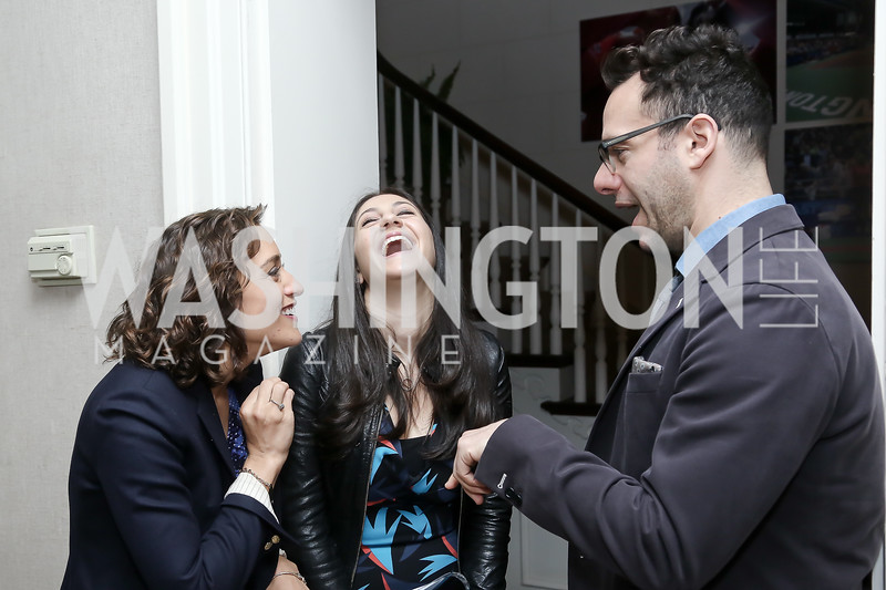 Nicole Gill, Shira Berg, Jon Reinish. Photo by Tony Powell. 2016 WHCD Garden Brunch. April 30, 2016