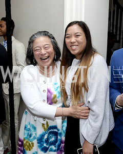 Tina Tchen and Emma Tchen. Photo by Tony Powell. 2016 WHCD Garden Brunch. April 30, 2016