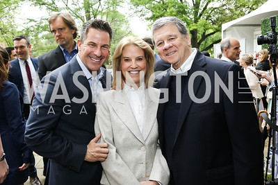 Jeremy Bernard, Greta Van Susteren and John Coale. Photo by Tony Powell. 2016 WHCD Garden Brunch. April 30, 2016