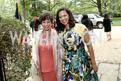 Valerie Jarrett and Laura Jarrett. Photo by Tony Powell. 2016 WHCD Garden Brunch. April 30, 2016