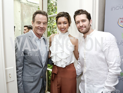 Breaking Bad's Bryan Cranston, Renee and Matthew Morrison. Photo by Tony Powell. 2016 WHCD Garden Brunch. April 30, 2016