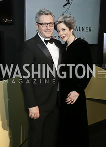 Stephen Kessler, Heather Podesta. Photo by Tony Powell. 2016 WHCD MSNBC After Party. Inst. of Peace. April 30, 2016