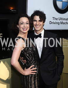 Martha Krabill, Darren Criss. Photo by Tony Powell. 2016 WHCD MSNBC After Party. Inst. of Peace. April 30, 2016