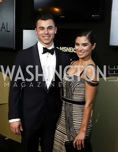 Joseph Ferrara and Orange Is the New Black Actress Diane Guerrero. Photo by Tony Powell. 2016 WHCD MSNBC After Party. Inst. of Peace. April 30, 2016
