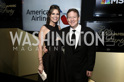 The Today Show Co-Host Savannah Guthrie, Michael Feldman. Photo by Tony Powell. 2016 WHCD MSNBC After Party. Inst. of Peace. April 30, 2016