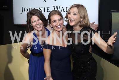 MSNBC political Correspondent Kasie Hunt, NBC News Correspondent Katy Tur, NBC News Senior White House Correspondent Chris Jansing. Photo by Tony Powell. 2016 WHCD MSNBC After Party. Inst. of Peace. April 30, 2016