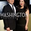 Robert Kang and WRC-TV Anchor Eun Yang. Photo by Tony Powell. 2016 WHCD MSNBC After Party. Inst. of Peace. April 30, 2016