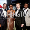 Jonathan Capehart, MSNBC Host Tamron Hall, Nick Schmit, Johnny Wright. Photo by Tony Powell. 2016 WHCD MSNBC After Party. Inst. of Peace. April 30, 2016