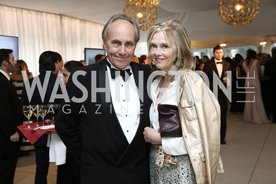 Christopher and Jennifer Isham. Photo by Tony Powell. 2016 WHCD Pre-parties. Hilton Hotel. April 30, 2016