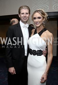 Eric Trump and Lara Yunaska. Photo by Tony Powell. 2016 WHCD Pre-parties. Hilton Hotel. April 30, 2016