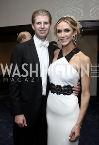 Eric Trump and Lara Yunaska. Photo by Tony Powell. 2016 WHCD Pre-parties. Hilton Hotel. April 30, 2016