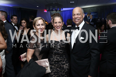 Susan DiMarco, Health and Human Services Sec. Sylvia Burwell, Homeland Security Sec. Jeh Johnson. Photo by Tony Powell. 2016 WHCD Pre-parties. Hilton Hotel. April 30, 2016