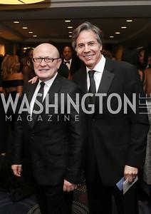 Franco Nuschese, Tony Blinken. Photo by Tony Powell. 2016 WHCD Pre-parties. Hilton Hotel. April 30, 2016