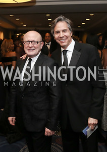 Franco Nuschese, Tony Blinken. Photo by Tony Powell. 2016 WHCD Pre-parties. Hilton Hotel. April 30, 2016