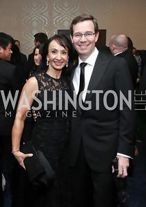Elena and Robert Allbritton. Photo by Tony Powell. 2016 WHCD Pre-parties. Hilton Hotel. April 30, 2016