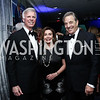 Fred Ryan, Leader Nancy Pelosi and Paul Pelosi. Photo by Tony Powell. 2016 WHCD Pre-parties. Hilton Hotel. April 30, 2016