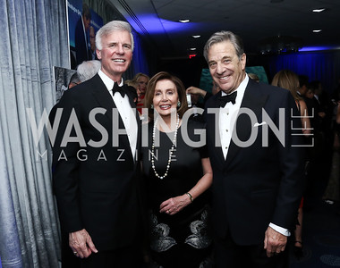 Fred Ryan, Leader Nancy Pelosi and Paul Pelosi. Photo by Tony Powell. 2016 WHCD Pre-parties. Hilton Hotel. April 30, 2016