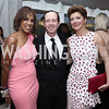 Gayle King, Geoff Tracy, Norah O'Donnell. Photo by Tony Powell. 2016 WHCD Pre-parties. Hilton Hotel. April 30, 2016