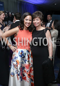 Laura Jarrett and Valerie Jarrett. Photo by Tony Powell. 2016 WHCD Pre-parties. Hilton Hotel. April 30, 2016