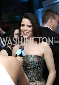 Actress Neve Campbell. Photo by Tony Powell. 2016 WHCD Pre-parties. Hilton Hotel. April 30, 2016