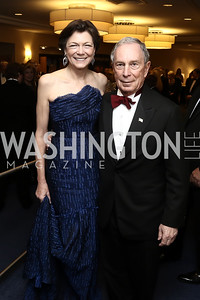 Diana Taylor and Michael Bloomberg. Photo by Tony Powell. 2016 WHCD Pre-parties. Hilton Hotel. April 30, 2016