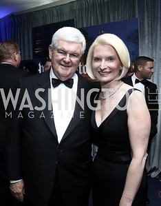 Newt and Callista Gingrich. Photo by Tony Powell. 2016 WHCD Pre-parties. Hilton Hotel. April 30, 2016