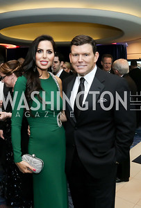 Amy and Bret Baier. Photo by Tony Powell. 2016 WHCD Pre-parties. Hilton Hotel. April 30, 2016