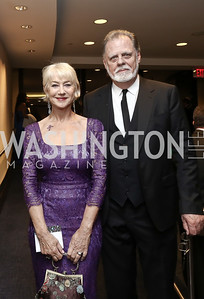Dame Helen Mirren and Director Taylor Hackford. Photo by Tony Powell. 2016 WHCD Pre-parties. Hilton Hotel. April 30, 2016