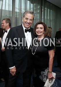 Paul Pelosi and Leader Nancy Pelosi. Photo by Tony Powell. 2016 WHCD Pre-parties. Hilton Hotel. April 30, 2016